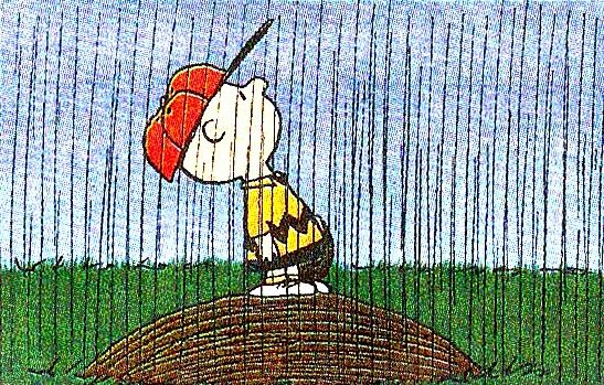 Charlie Brown rain delay